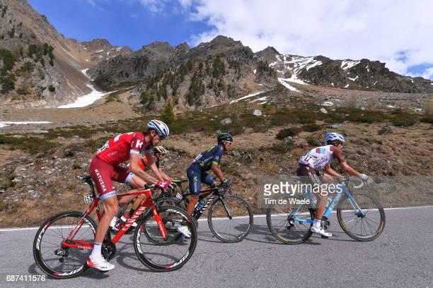 100th Tour of Italy 2017 / Stage 16 Domenico POZZOVIVO / Nairo QUINTANA / Vincenzo NIBALI / Ilnur ZAKARIN / Umbrailpass Mountains / Landscape /...