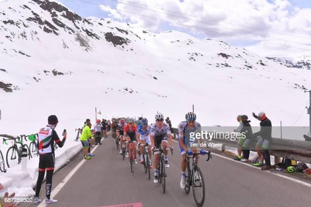 100th Tour of Italy 2017 / Stage 16 Eros CAPECCHI / Bob JUNGELS White Best Young Rider Jersey / Thibaut PINOT / Bauke MOLLEMA / Stelvio 2758m /...