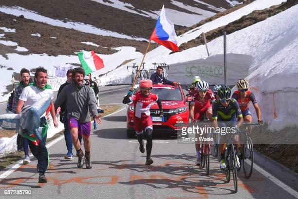 100th Tour of Italy 2017 / Stage 16 Ilnur ZAKARIN / Domenico POZZOVIVO / Vincenzo NIBALI / Nairo QUINTANA / Fans / Public / Team KATUSHAALPECIN /...