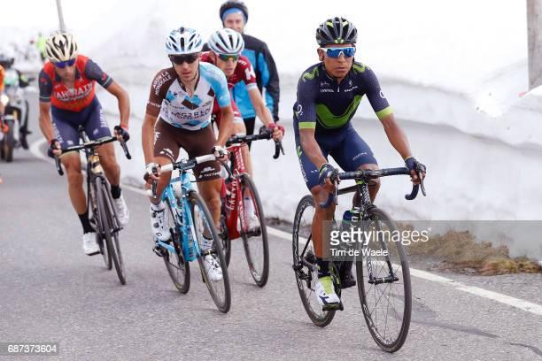 100th Tour of Italy 2017 / Stage 16 Nairo QUINTANA / Domenico POZZOVIVO / Vincenzo NIBALI / Ilnur ZAKARIN / Umbrailpass / Rovetta Bormio / Giro /pool...