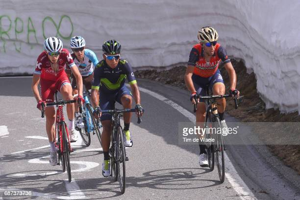 100th Tour of Italy 2017 / Stage 16 Nairo QUINTANA / Ilnur ZAKARIN / Vincenzo NIBALI / Domenico POZZOVIVO / Umbrailpass / Rovetta Bormio / Giro /