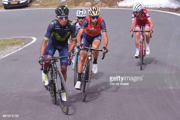 100th Tour of Italy 2017 / Stage 16 Nairo QUINTANA / Vincenzo NIBALI / Domenico POZZOVIVO / Ilnur ZAKARIN / Rovetta Bormio / Giro /