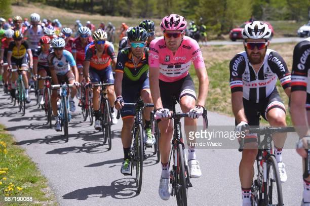 100th Tour of Italy 2017 / Stage 16 Tom DUMOULIN Pink Leader Jersey/ Jose Joaquin ROJAS / Vincenzo NIBALI / Domenico POZZOVIVO / Rovetta Bormio /...
