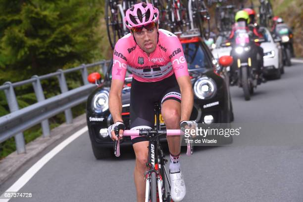 100th Tour of Italy 2017 / Stage 16 Tom DUMOULIN Pink Leader Jersey / Dropped Due To Stomach Problems / Rovetta Bormio / Giro /