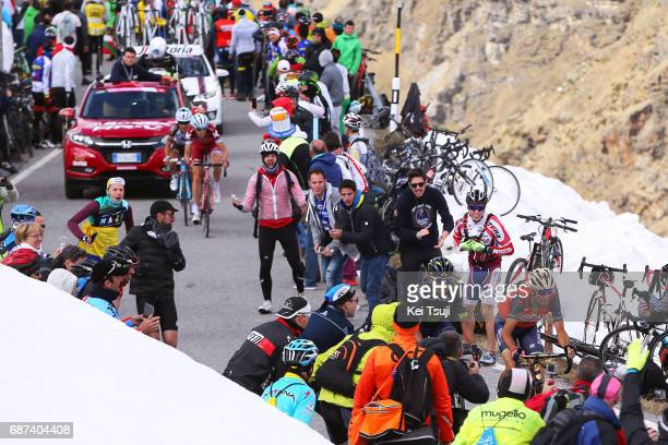 100th Tour of Italy 2017 / Stage 16 Vincenzo NIBALI / Nairo QUINTANA / Domenico POZZOVIVO / Ilnur ZAKARIN / Umbrailpass / Landscape / Rovetta Bormio...