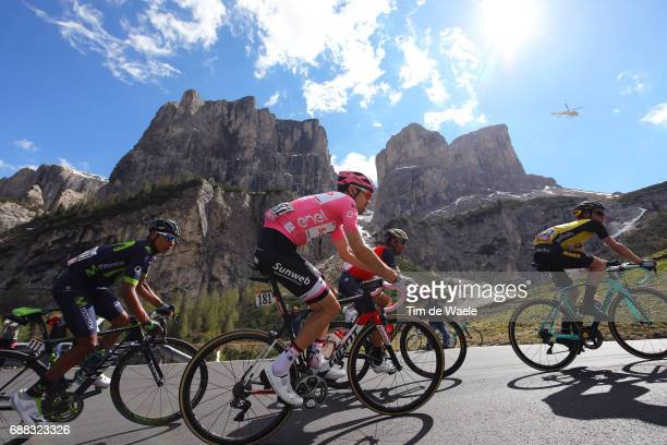 100th Tour of Italy 2017 / Stage 18 Tom DUMOULIN Pink Leader Jersey / Nairo QUINTANA / Vincenzo NIBALI / Passo Gardena / Moena Ortisei/St Ulrich...