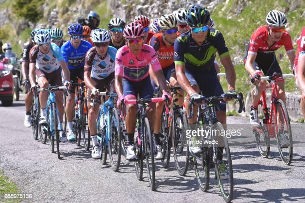 100th Tour of Italy 2017 / Stage 20 Andrey AMADOR / Bauke MOLLEMA / Nairo QUINTANA Pink Leader Jersey / Vincenzo NIBALI / Domenico POZZOVIVO / Mikel...