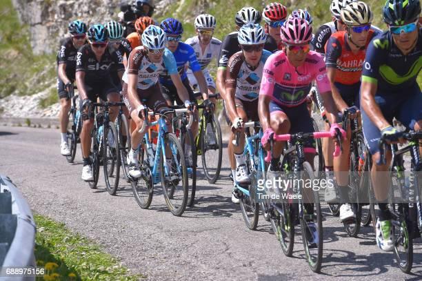 100th Tour of Italy 2017 / Stage 20 Andrey AMADOR / Nairo QUINTANA Pink Leader Jersey / Vincenzo NIBALI / Domenico POZZOVIVO / Mikel LANDA MEANA Blue...