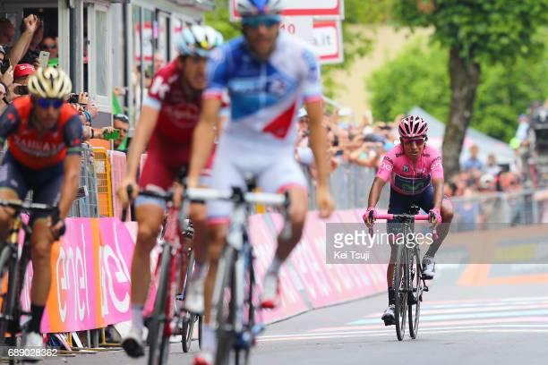 100th Tour of Italy 2017 / Stage 20 Arrival / Nairo QUINTANA Pink Leader Jersey / Thibaut PINOT Celebration / Vincenzo NIBALI / Ilnur ZAKARIN /...