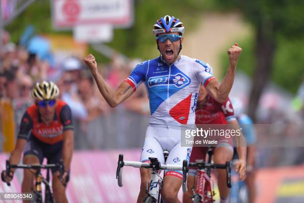 100th Tour of Italy 2017 / Stage 20 Arrival / Thibaut PINOT Celebration / Vincenzo NIBALI / Ilnur ZAKARIN / Pordenone Asiago 1002m / Giro /