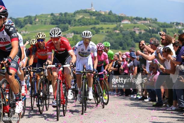 100th Tour of Italy 2017 / Stage 20 Bauke MOLLEMA / Vincenzo NIBALI / Adam YATES White Best Young Rider Jersey / Nairo QUINTANA Pink Leader Jersey /...