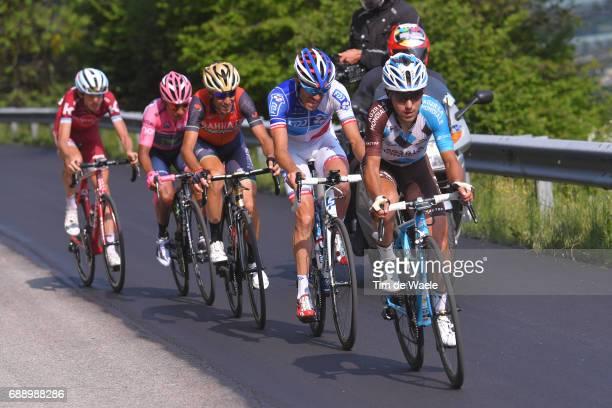 100th Tour of Italy 2017 / Stage 20 Domenico POZZOVIVO / Thibaut PINOT / Vincenzo NIBALI / Nairo QUINTANA Pink Leader Jersey / Ilnur ZAKARIN /...