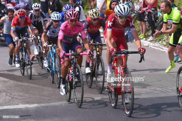 100th Tour of Italy 2017 / Stage 20 Ilnur ZAKARIN / Nairo QUINTANA Pink Leader Jersey / Vincenzo NIBALI / Domenico POZZOVIVO / Bob JUNGELS / Tom...