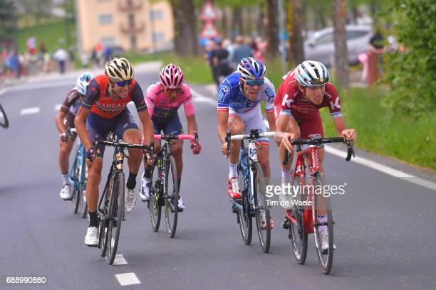 100th Tour of Italy 2017 / Stage 20 Ilnur ZAKARIN / Vincenzo NIBALI / Thibaut PINOT / Nairo QUINTANA Pink Leader Jersey / Domenico POZZOVIVO /...