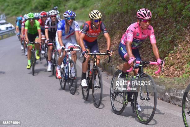 100th Tour of Italy 2017 / Stage 20 Nairo QUINTANA Pink Leader Jersey / Vincenzo NIBALI / Thibaut PINOT / Pordenone Asiago 1002m / Giro /