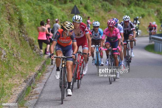 100th Tour of Italy 2017 / Stage 20 Vincenzo NIBALI / Ilnur ZAKARIN / Nairo QUINTANA Pink Leader Jersey / Tom DUMOULIN / Domenico POZZOVIVO /...