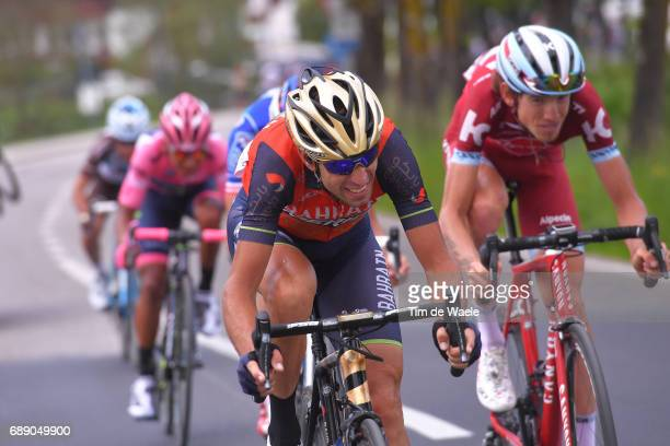 100th Tour of Italy 2017 / Stage 20 Vincenzo NIBALI / Ilnur ZAKARIN / Thibaut PINOT / Nairo QUINTANA Pink Leader Jersey / Domenico POZZOVIVO /...