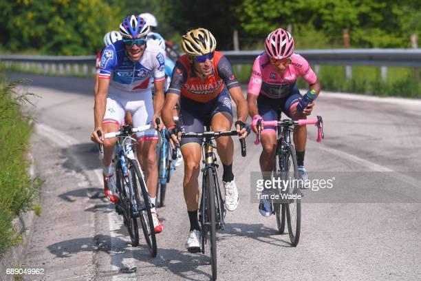 100th Tour of Italy 2017 / Stage 20 Vincenzo NIBALI / Thibaut PINOT / Nairo QUINTANA Pink Leader Jersey / Pordenone Asiago 1002m / Giro /