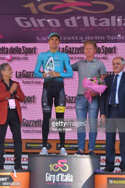 100th Tour of Italy 2017 / Stage 21 Podium / Luis Leon SANCHEZ Mountain Prize Michele SCARPONI / Alexandr VINOKOUROV Manager Team Astana /...