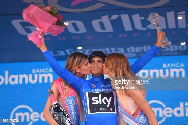 100th Tour of Italy 2017 / Stage 21 Podium / Mikel LANDA MEANA Blue Mountain Jersey/ Celebration / MonzaAutrodromo Nazionale MilanoDuomo / Individual...
