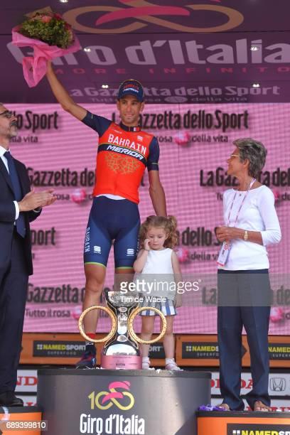 100th Tour of Italy 2017 / Stage 21 Podium / Vincenzo NIBALI / Bonacossa Prize / Children / Celebration / MonzaAutrodromo Nazionale MilanoDuomo /...