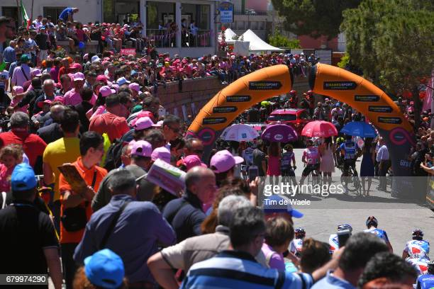 100th Tour of Italy 2017 / Stage 3 Start / Andre GREIPEL Pink Leader Jersey / Daniel TEKLEHAIMANOT Blue Mountain Jersey/ Lukas POSTLBERGER White...