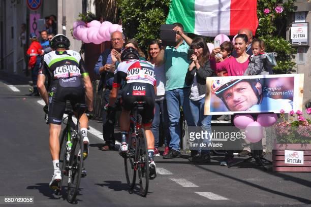 100th Tour of Italy 2017 / Stage 4 Jacques JANSE VAN RENSBURG / Maxime MONFORT / Memorial Michele SCARPONI / Fans / Public / Cefalu EtnaRifSapienza...