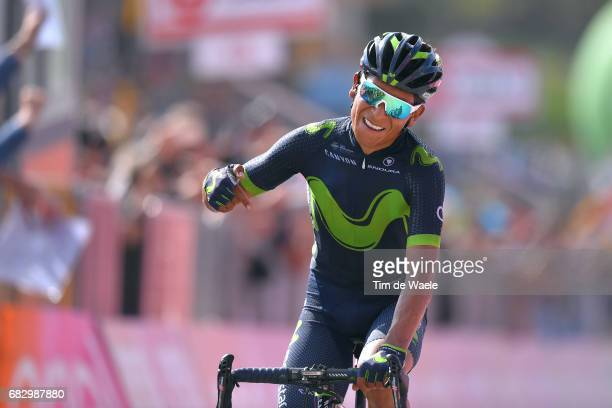 100th Tour of Italy 2017 / Stage 9 Arrival / Nairo QUINTANA / Celebration / Montenero Di Bisaccia Blockhaus 1665m / Giro /