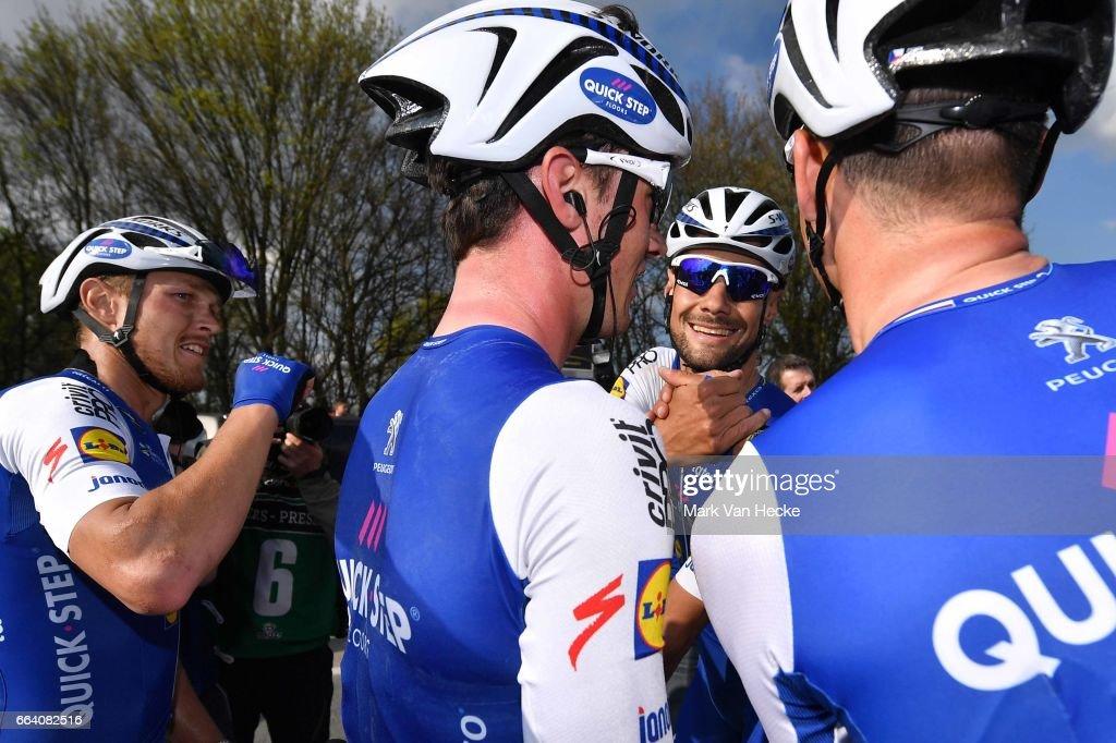 101st Tour of Flanders 2017 / Men Arrival / Tom BOONEN (BEL)/ Matteo TRENTIN (ITA)/ Celebration / Antwerpen - Oudenaarde (260Km)/ Ronde van Vlaanderen / RVV /
