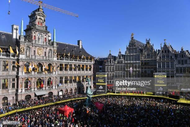 101st Tour of Flanders 2017 / Men Start / Podium / Alexander KRISTOFF / Tony MARTIN / Reto HOLLENSTEIN / Baptiste PLANCKAERT / Rick ZABEL / Marco...