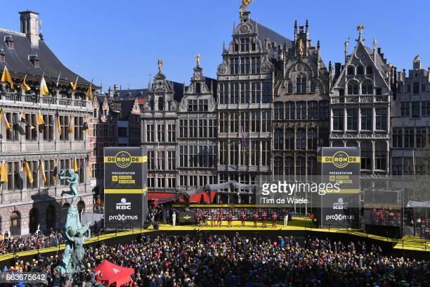 101st Tour of Flanders 2017 / Men Start / Podium / Greg VAN AVERMAET / Silvan DILLIER / JeanPierre DRUCKER / Martin ELMIGER / Stefan KUNG / Manuel...