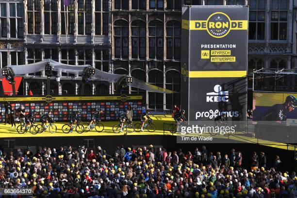 101st Tour of Flanders 2017 / Men Start / Podium / Ian STANNARD / Luke ROWE / Gianni MOSCON / Salvatore PUCCIO / Christian KNEES / Owain DOULL /...
