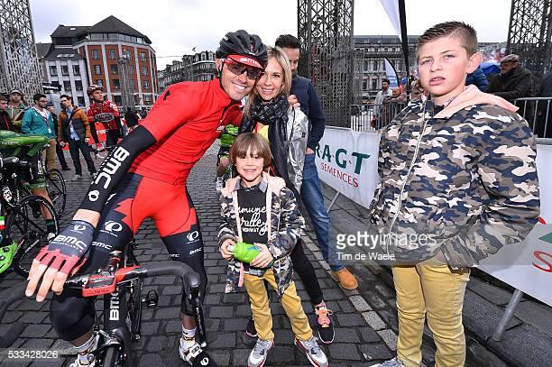 101th Liege Bastogne Liege 2015 SANCHEZ Samuel / Wife Femme Vrouw / Children Enfant Kinderen / Liege Liege 253Km/ Luik Bastenaken LBL /© Tim De Waele