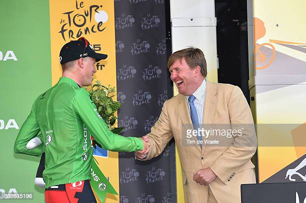 102nd Tour de France / Stage 1 Podium / DENNIS Rohan Green Sprint Jersey / Koning Willem Alexander / Celebration Joie Vreugde / Utrecht Utrecht /...