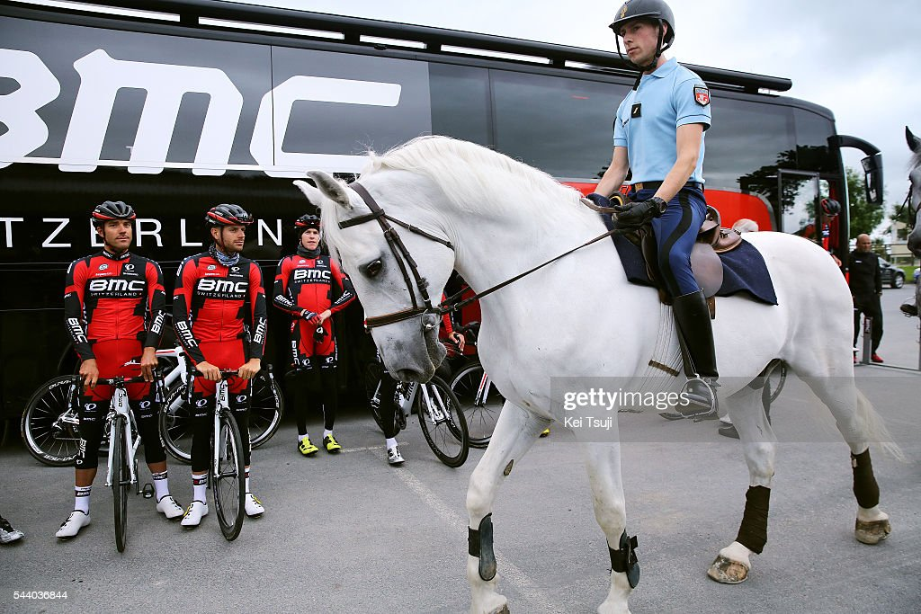 103rd Tour de France 2016 / PC BMC Racing Team Illustration / Police / Horse / Bus / Press Conference BMC Racing Team (USA) / TDF /
