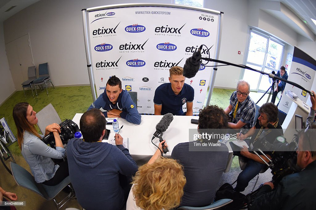 103rd Tour de France 2016 / PC Team Etixx QS Julian ALAPHILIPPE (FRA)/ Marcel KITTEL (GER)/ Press Conference Team Etixx QS (BEL) / TDF /