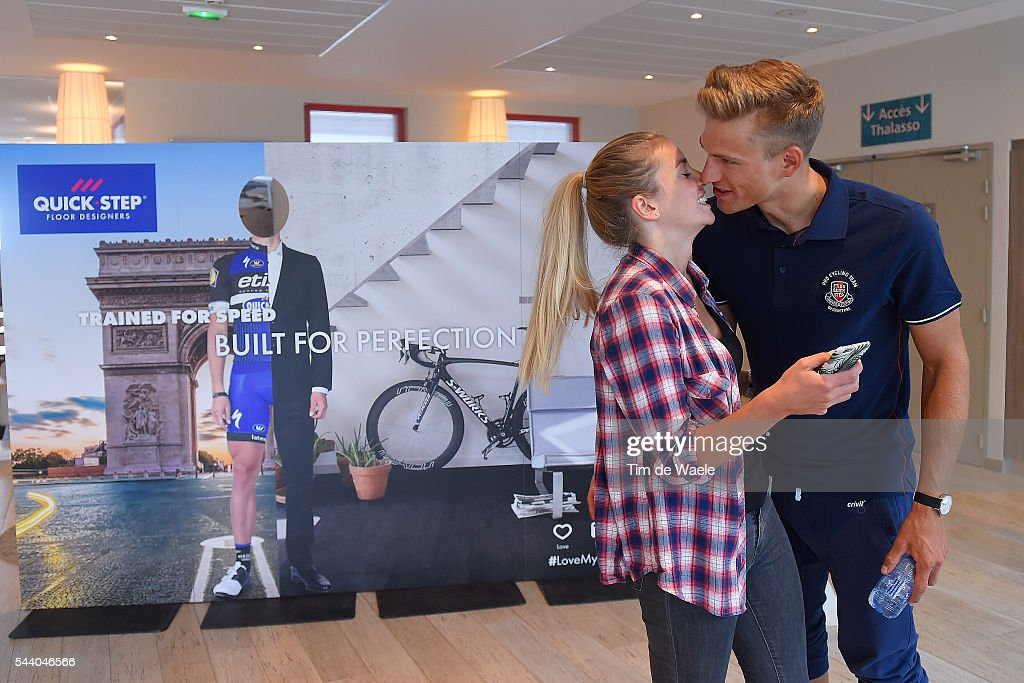 103rd Tour de France 2016 / PC Team Etixx QS Marcel KITTEL (GER)/ Tess von PIEKARTZ (GER) Girlfriend / Press Conference Team Etixx QS (BEL) / TDF /
