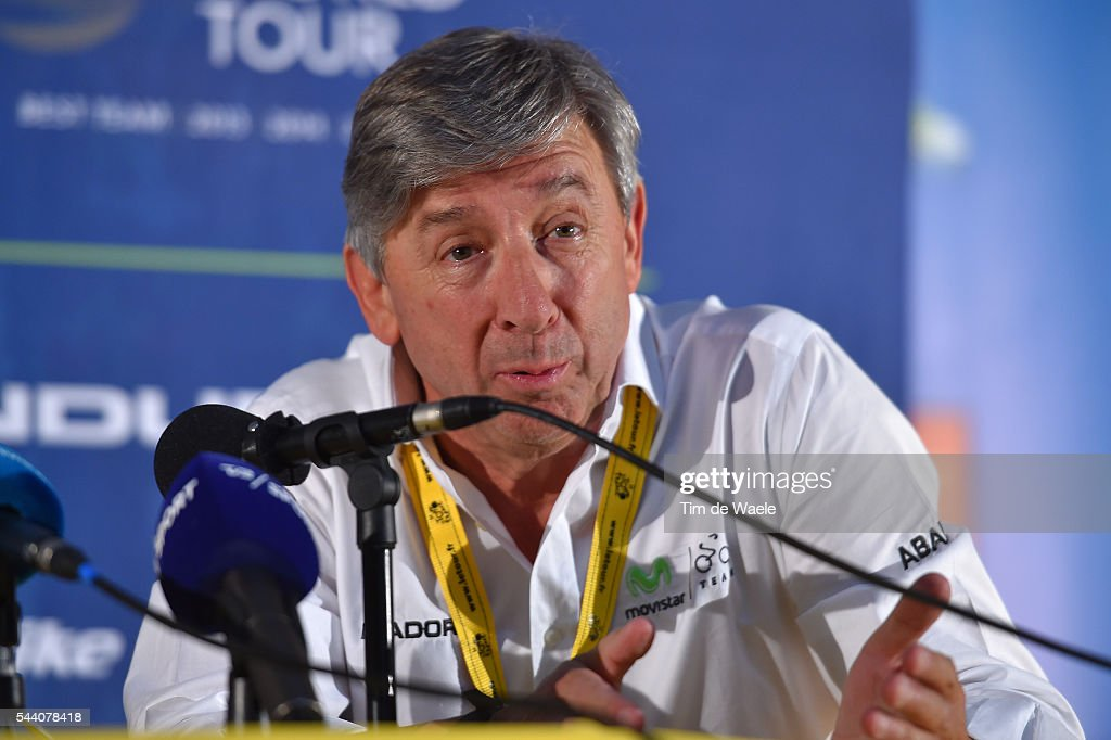 103rd Tour de France 2016 / PC Team Movistar Eusebio UNZUE (ESP) Team Manager / Press Conference Team Movistar (ESP) / TDF /