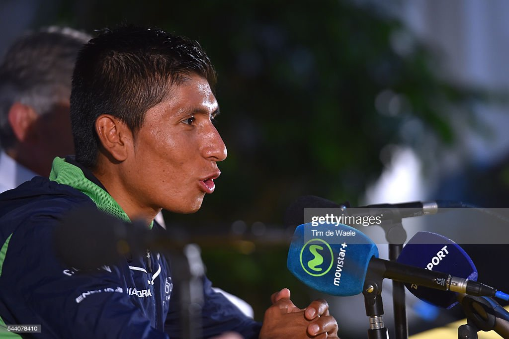 103rd Tour de France 2016 / PC Team Movistar Nairo QUINTANA (COL)/ Press Conference Team Movistar (ESP) / TDF /