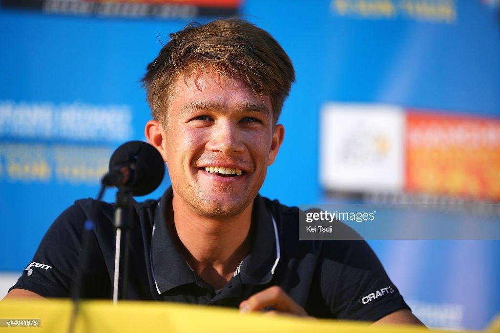 103rd Tour de France 2016 / PC Team Orica GreenEdge Christopher JUUL-JENSEN (DEN) / Press Conference Team ORICA GREENEDGE (AUS) / TDF /