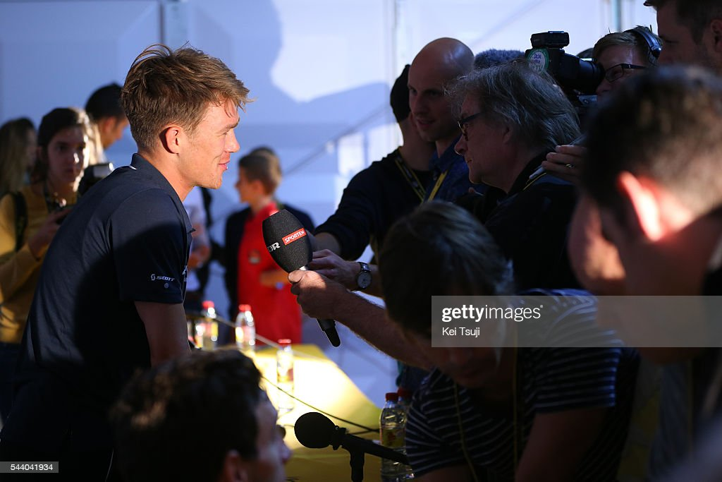 103rd Tour de France 2016 / PC Team Orica GreenEdge Christopher JUUL-JENSEN (DEN) / Press Conference Team ORICA GREENEDGE (AUS) / TDF /