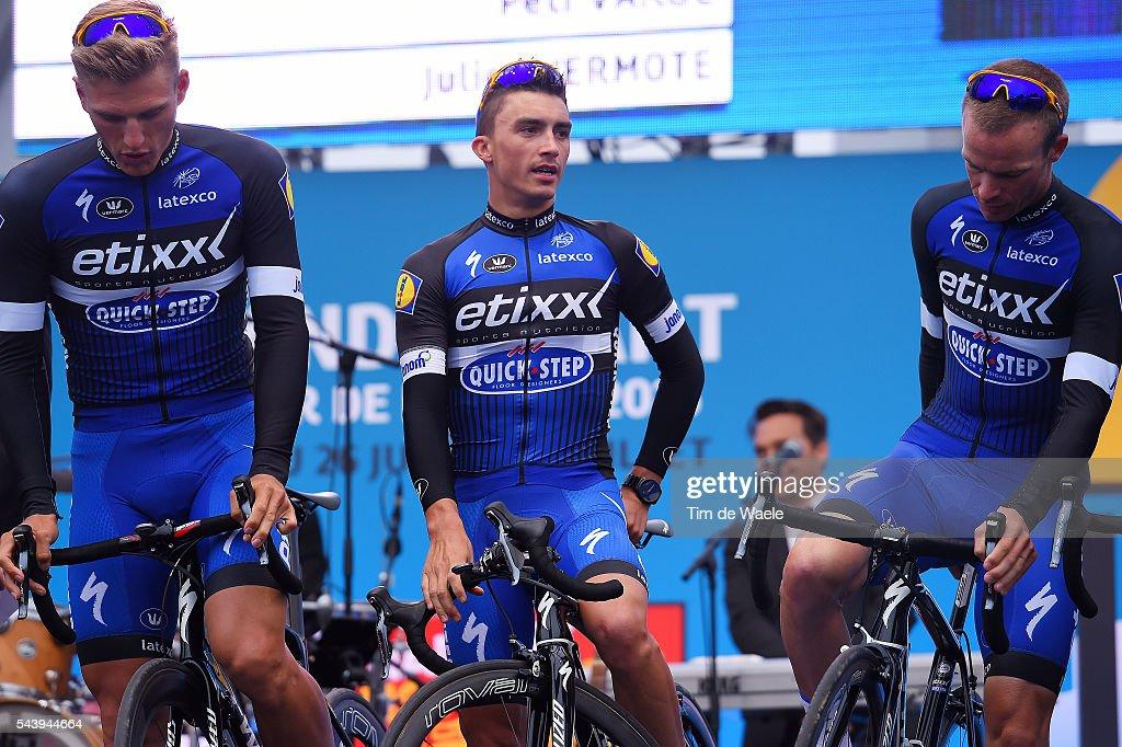 103rd Tour de France 2016 / Team Presentation Team ETIXX - QUICK-STEP (BEL)/ Julian ALAPHILIPPE (FRA)/ Marcel KITTEL (GER)/ TDF /