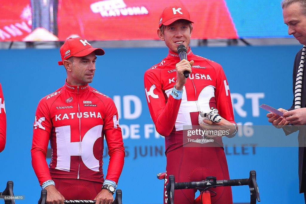 103rd Tour de France 2016 / Team Presentation Team KATUSHA (RUS)/ Angel VICIOSO ARCOS (ESP) / Ilnur ZAKARIN (RUS)/ TDF /