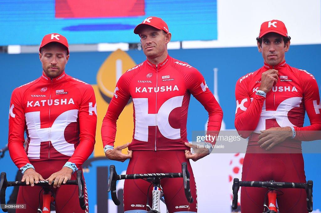 103rd Tour de France 2016 / Team Presentation Team KATUSHA (RUS)/ Alexander KRISTOFF (NOR)/ Alberto LOSADA ALGUACIL (ESP)/ Marco HALLER (AUT)/ TDF /