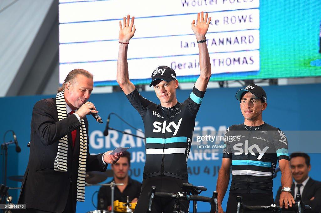 103rd Tour de France 2016 / Team Presentation Team SKY (GBR)/ Christopher FROOME (GBR)/ Sergio Luis HENAO (COL)/ TDF /