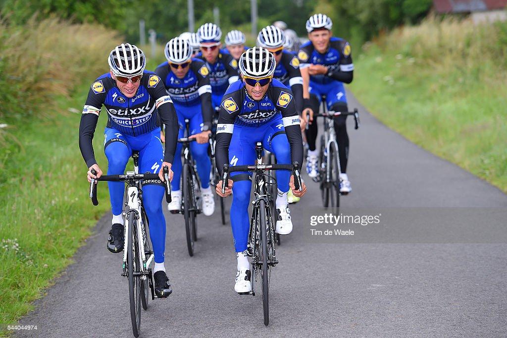 103rd Tour de France 2016 / Training Team Etixx QS Daniel MARTIN (IRL)/ Julian ALAPHILIPPE (FRA)/ Training Team Etixx QS (BEL) / TDF /