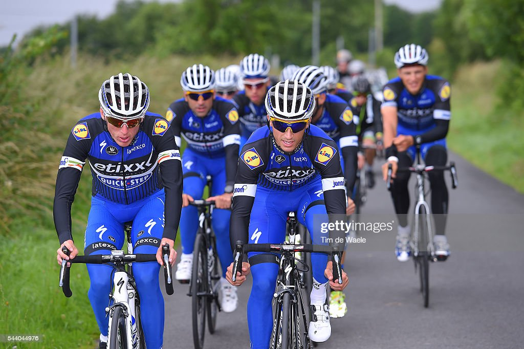 103rd Tour de France 2016 / Training Team Etixx QS Daniel MARTIN (IRL)/ Julian ALAPHILIPPE (FRA)/ Training Team Etixx QS (BEL) / TDF /