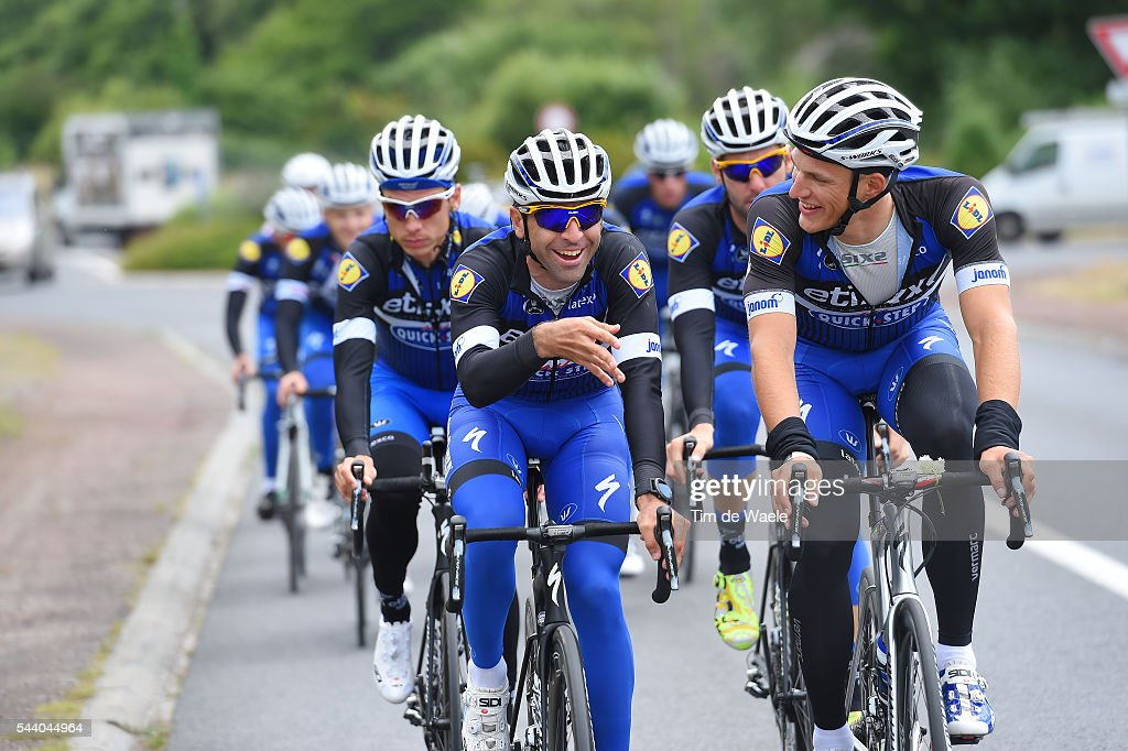 103rd Tour de France 2016 / Training Team Etixx QS Marcel KITTEL (GER)/ Maximiliano ARIEL RICHEZE (ARG) / Training Team Etixx QS (BEL) / TDF /
