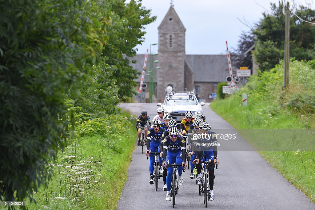 103rd Tour de France 2016 / Training Team Etixx QS Marcel KITTEL (GER)/ Maximiliano ARIEL RICHEZE (ARG) / Illustration / Church / Training Team Etixx QS (BEL) / TDF /