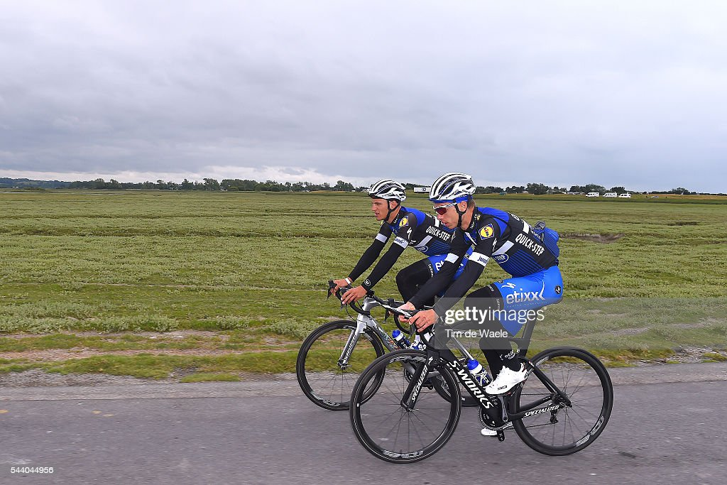 103rd Tour de France 2016 / Training Team Etixx QS Marcel KITTEL (GER)/ Tony MARTIN (GER)/ Training Team Etixx QS (BEL) / TDF /